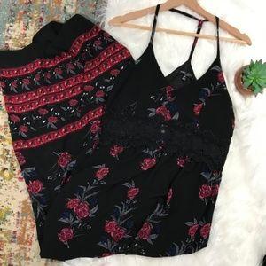 Romeo & Juliet • Floral Crochet Maxi Dress